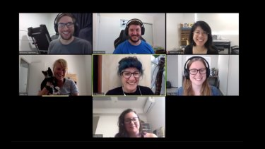 A Work180 meeting over Zoom.