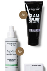 La Biosethetique Glam Color Advanced, $50. Christophe Robin Hydrating Leave-in Mist, $49.