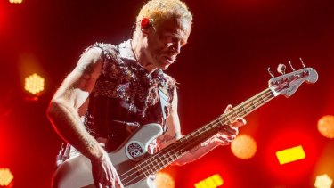 Bassist Flea hasn't lost any energy and still slaps the bass just as hard.