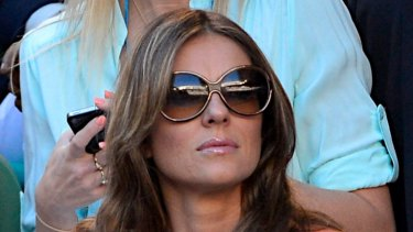 Elizabeth Hurley has received a payout by Amazon after her dog was run over by a delivery driver.