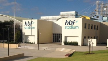 The scaffolder fell whilst working at HBF Stadium in Mount Claremont.