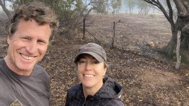 Simon Wallwork and partner Cindy Stevens.