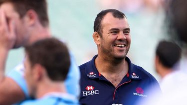 Michael Cheika during his Waratahs days.