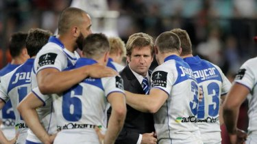 Tough times: Things ended badly for Des Hasler at the Bulldogs.