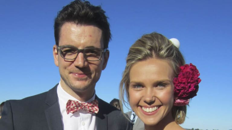 Sunrise reporter Edwina Bartholomew with her partner Neil Varcoe are tying the knot.