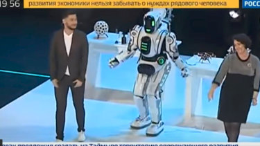 The dancing robot on Russian television.