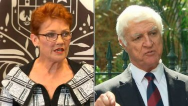 Pauline Hanson (left) and Bob Katter have joined forces.
