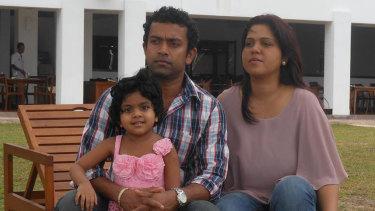 Sudesh, Manik and their daughter Alexendria.