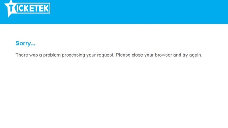 The Ticketek website was struggling on Tuesday morning.