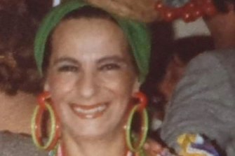She loved fancy dress, pictured here in costume as Carmen Miranda.