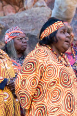 "Members of the Central Australian Aboriginal choir, pictured last year, will sing a new version of the anthem on Sunday. It replaces the word ""young"" with the word ""one"" and adds a new verse that recognises 60,000 years of continued existence by Aboriginal Australians."
