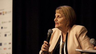 Training and Skills Minister Shannon Fentiman said new TAFE Queensland chief Mary Campbell (pictured) was doing a 'wonderful job steering TAFE in a positive direction'.