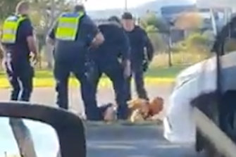 The arrest in Epping on Sunday afternoon has been referred Victoria Police Professional Standards Command for oversight.