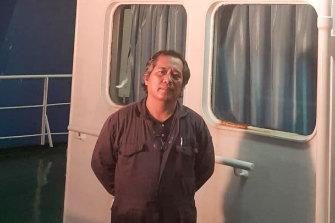 Filipino seafarer Larry Pineda.