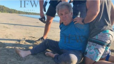 Peter Foster was arrested on a beach in far north Queensland.