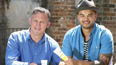 Titus Day and Guy Sebastian in 2016.