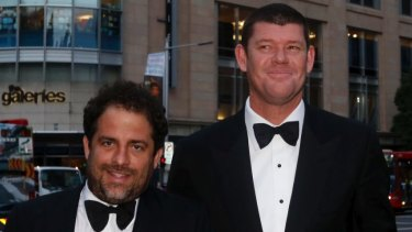 Hollywood film producer Brett Ratner and James Packer together in Sydney in 2013.