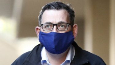 Victorian Premier Daniel Andrews started wearing a face mask on Sunday.