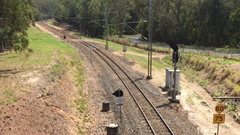 The single track rail line which has serviced the Sunshine Coast.