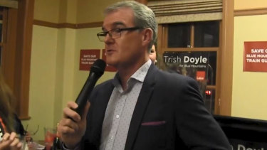 "Labor leader Michael Daley has been captured on video claiming that young people were leaving Sydney and being replaced by foreigners who were ""moving in and taking their jobs"". Photo: Youtube"
