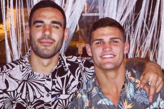 Tyrone May and Nathan Cleary