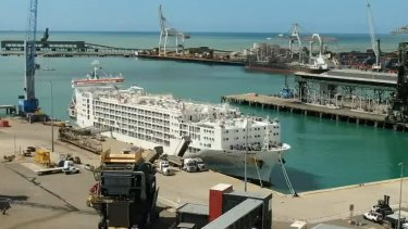 The man disembarked the Polaris 3 carrier in Townsville and breached COVID-19 restrictions.