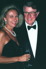 Social scene: Jill and Neville Wran at a function.