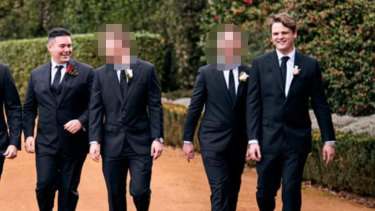 Ben Trevisiol (far left) and Joshua Wilson (far right) have been charged over the Dally M betting sting.