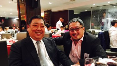 Ernest Wong and Jonathan Yee  at the 2015 dinner, as posted on Kenrick Cheah's Facebook page.