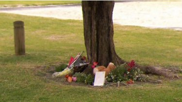 Families laid flowers at the crash scene in Maddington.