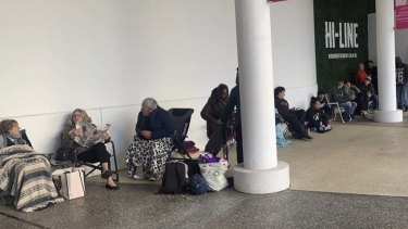 A few dozen people camped outside Crown Perth to purchase grand final tickets on Thursday morning.