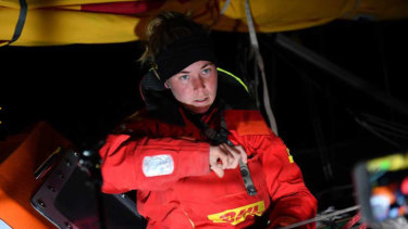 Susie Goodall is awaiting rescue in the Southern Ocean after a storm dismasted her yacht.