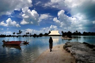 Low-lying Pacific nations such as Kiribati are especially vulnerable to climate change.