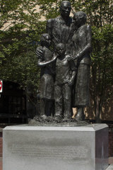 The African American monument in Savannah.