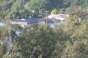 All but the roof of Lyn Lynch's Fernvale home was under water during the 2011 flood.