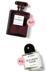 Chanel No. 5 EDP, $278. Byredo Eleventh Hour EDP, $184.