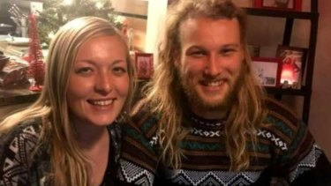 Lucas Fowler with Chynna Deese. The son of a senior NSW police officer and his American girlfriend were found shot dead in northern British Columbia.