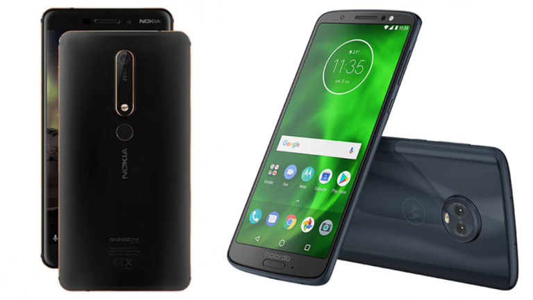 The 2018 Nokia 6, and the Moto G6.