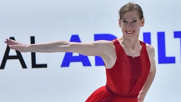 Canberra figure skater Lisa Nitschke glides home after striking gold