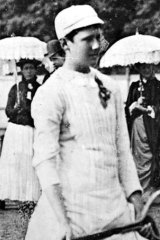 An undated photo of Charlotte 'Lottie' Dod who stirred up the tennis world with her shorter tennis dress at Wimbledon in 1887.
