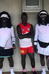 Players from a Tasmanian football club have drawn criticism after dressing up in blackface costumes for their after-season celebrations.