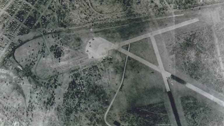 The air base was larger than the airport at Eagle Farm by the end of the war.