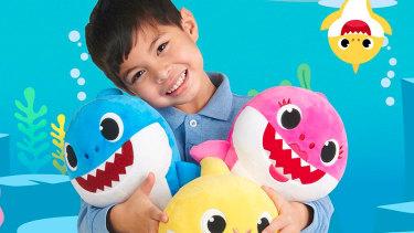 Baby Shark has inspired a range of plush toys.
