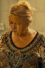 Screenshot of Jennifer Coolidge wearing Camilla in the HBO/Foxtel series The White Lotus.