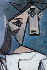"""""""Woman's Head"""", a 1939 oil on canvas, had been given by Picasso to the Greek state in 1949."""