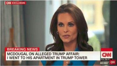 Former Playboy model Karen McDougal alleged she had an affair with Donald Trump.