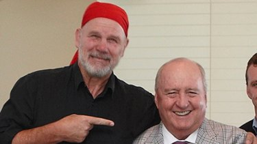 Your correspondent and former Wallabies coach Alan Jones in happier times.
