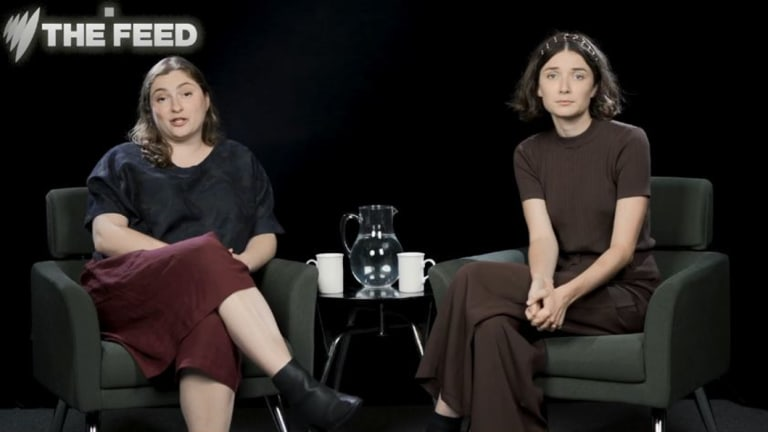 Victoria Zerbst, left, and Jenna Owen from SBS's The Feed.