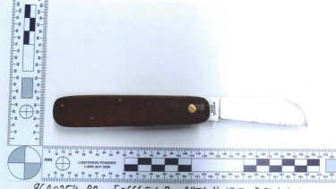 The Telecom pocket-knife found near where Jane Rimmer's body was found.