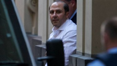 Tony Mokbel after he was  sentenced for 30 years on drug charges in the Melbourne Supreme Court.